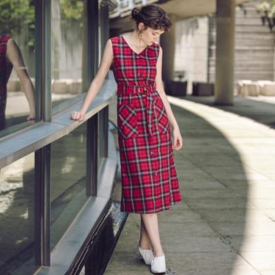 SO NICE時尚蘇格蘭格紋洋裝