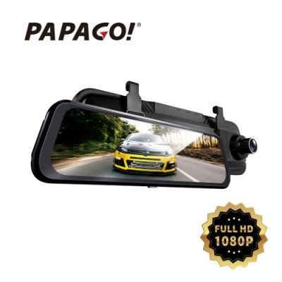 PAPAGO! Ray CP 1080P前後雙錄電子後視鏡行車紀錄器(送32G)