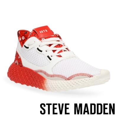 STEVE MADDEN-RAMP 拼接透氣運動休閒鞋-拼接紅