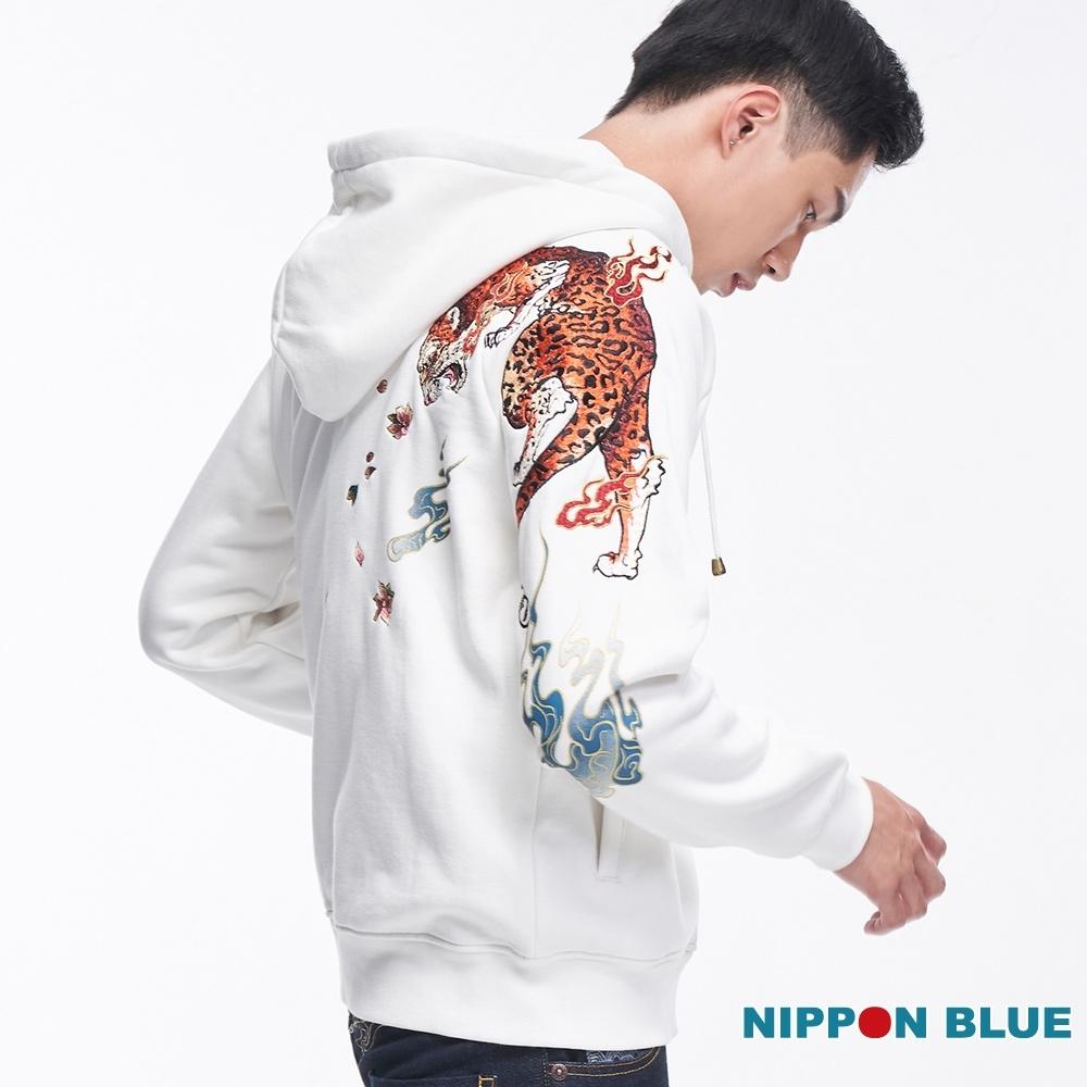 日本藍 BLUE WAY-進口金標-花豹帽外套(白)
