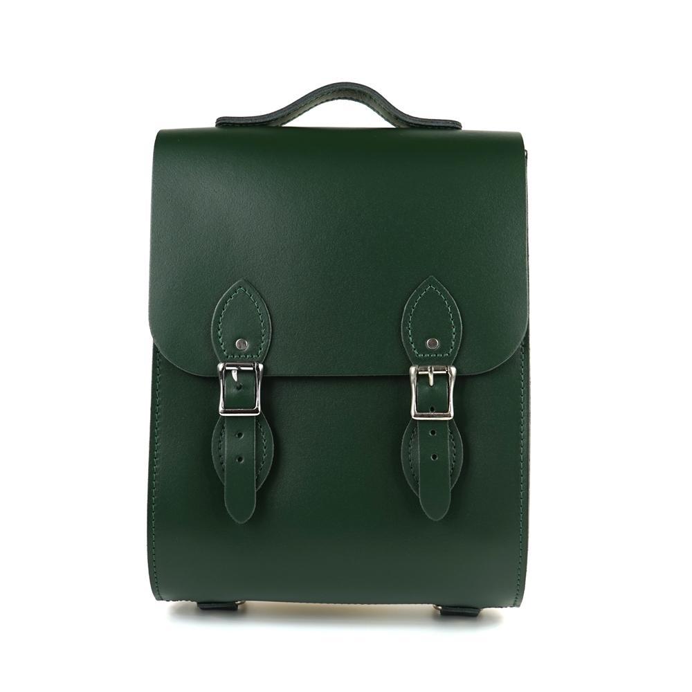 The Leather Satchel 英國手工牛皮溫莎小後揹包 手提包 郵差綠