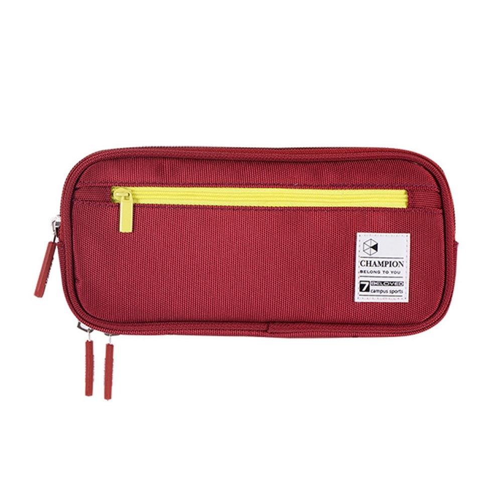 DF童趣館 - 韓版大容量多功能雙層文具袋萬用鉛筆盒-共3色 product image 1