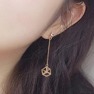Hera 赫拉 韓版鋯石魔方水晶耳環 針式/夾式-2款