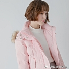 GIORDANO 女裝素色可拆式連帽羽絨外套 - 04 玫瑰粉