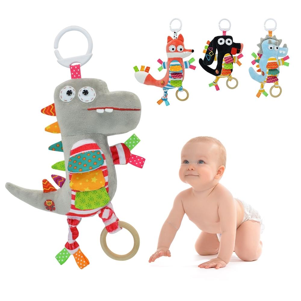 KOTY 嬰兒安撫玩具動物音樂拉鈴 推車玩偶床挂寶寶玩偶