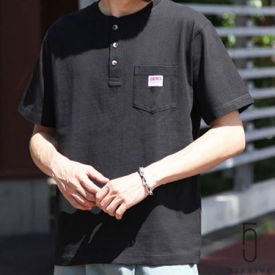 ZIP日本男裝 BEN DAVIS亨利領短袖TEE(7色)