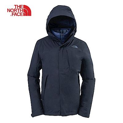 The North Face北面男款GORE-TEX深藍三合一外套|365BU6R