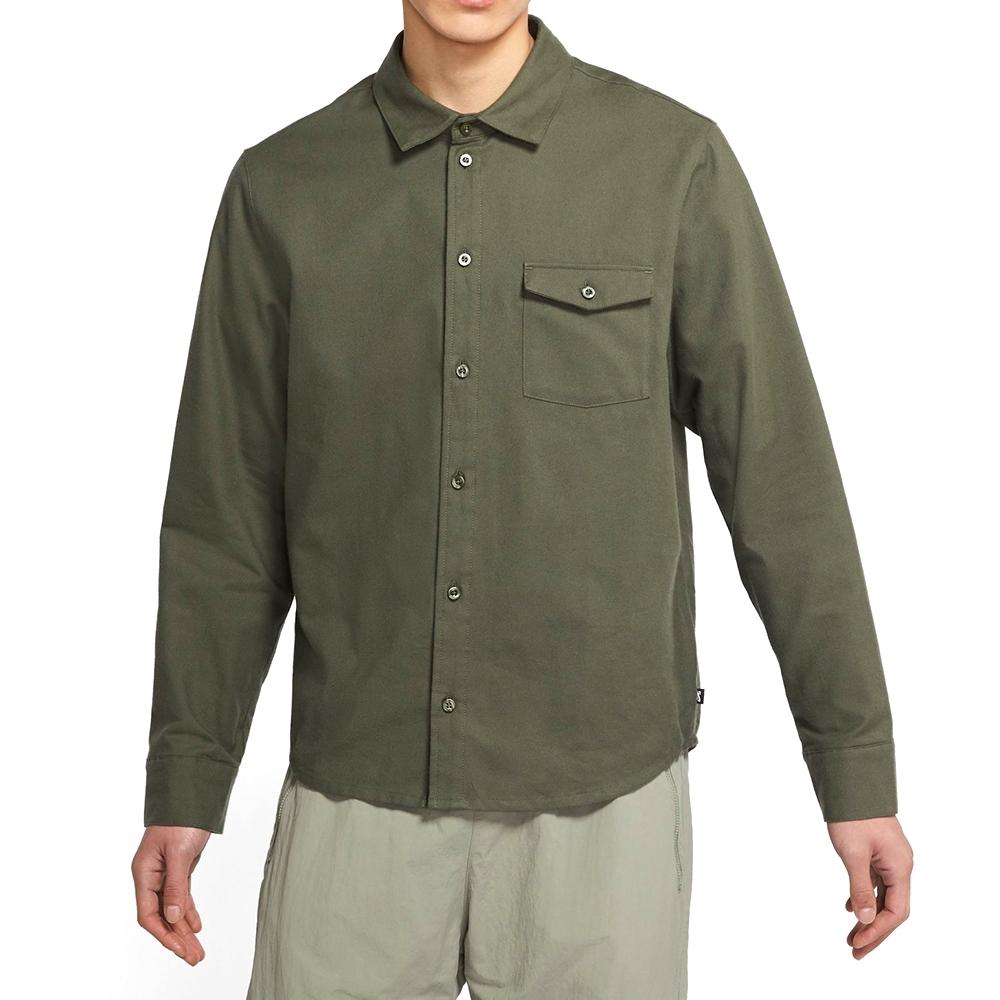NIKE 襯衫 上衣 長袖上衣 襯衫 休閒  男款 綠 CV4450-325 AS M NK SB FLANNEL