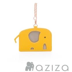 aziza 小象造型票卡夾 黃