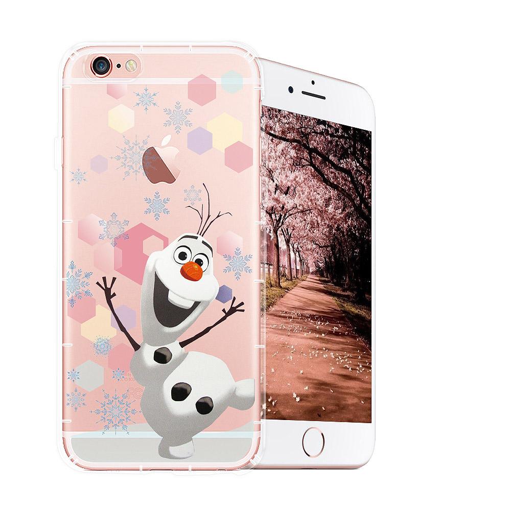 冰雪奇緣展場限定版 iPhone 6s/6 透明軟式空壓殼(彩色雪花雪寶) @ Y!購物
