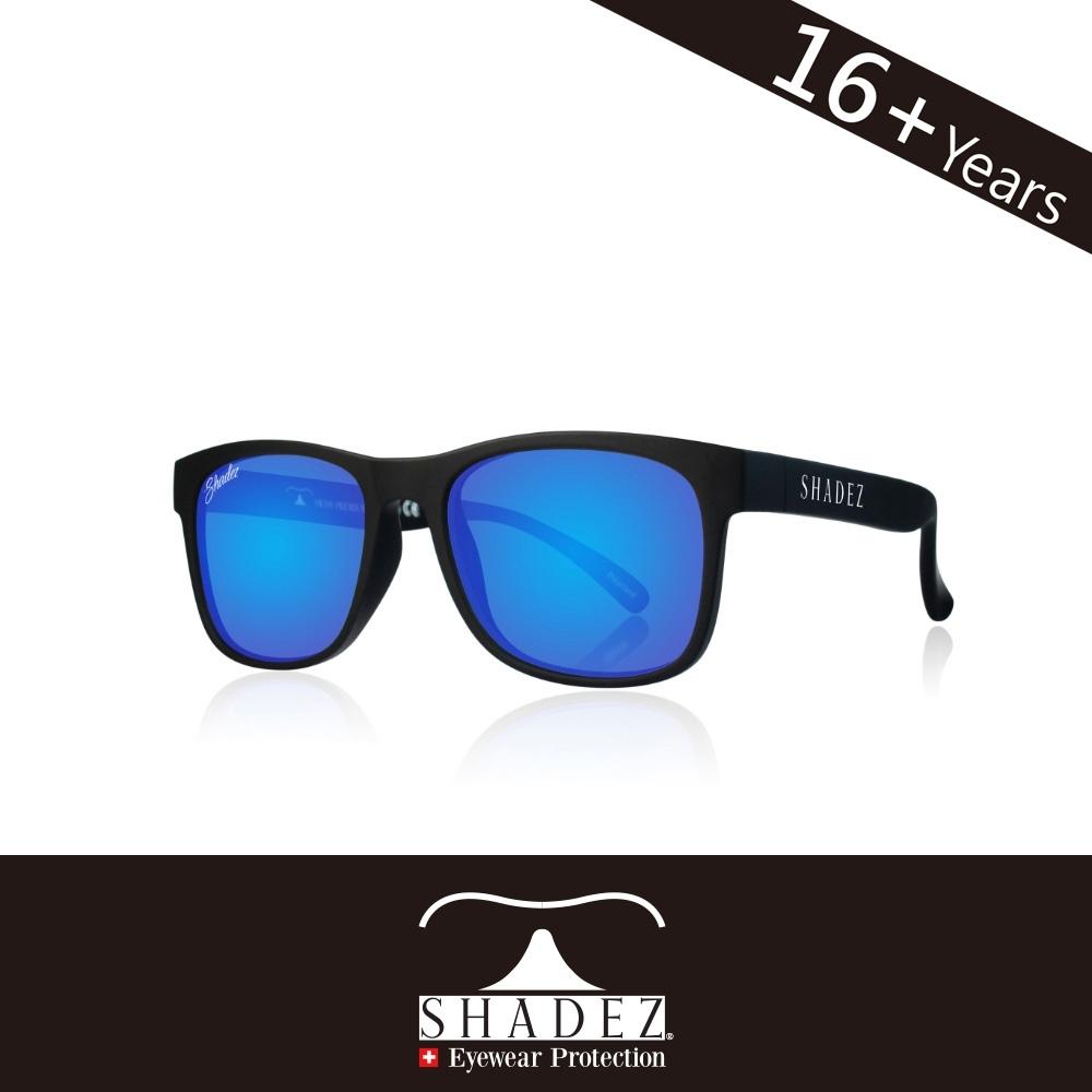 瑞士 SHADEZ 太陽眼鏡 【偏光-黑框湛藍 SHZ-202】成人