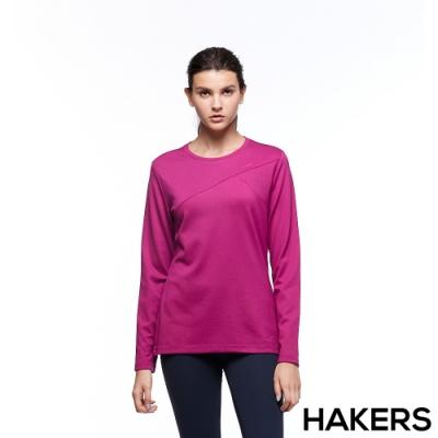 【HAKERS 哈克士】女 保暖排汗衣(櫻桃紫)
