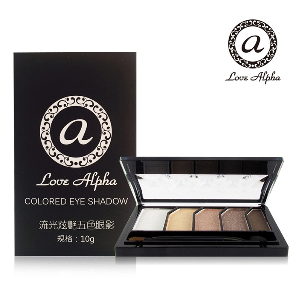 Love Alpha 流光炫艷五色眼影-1盒(款式任選)