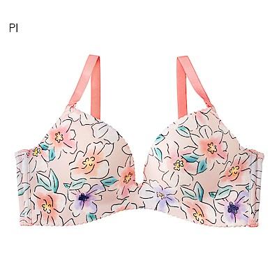 aimerfeel 線繪花卉超盛內衣-粉紅色