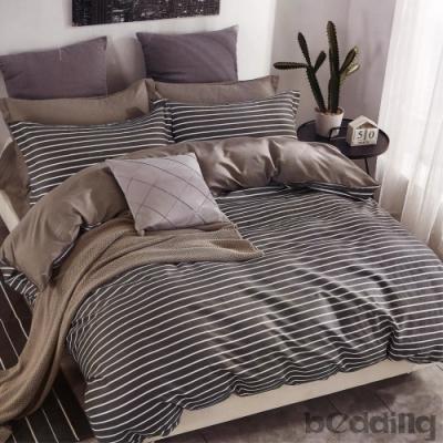 BEDDING-100%棉特大雙人6x7尺薄式床包-夜華