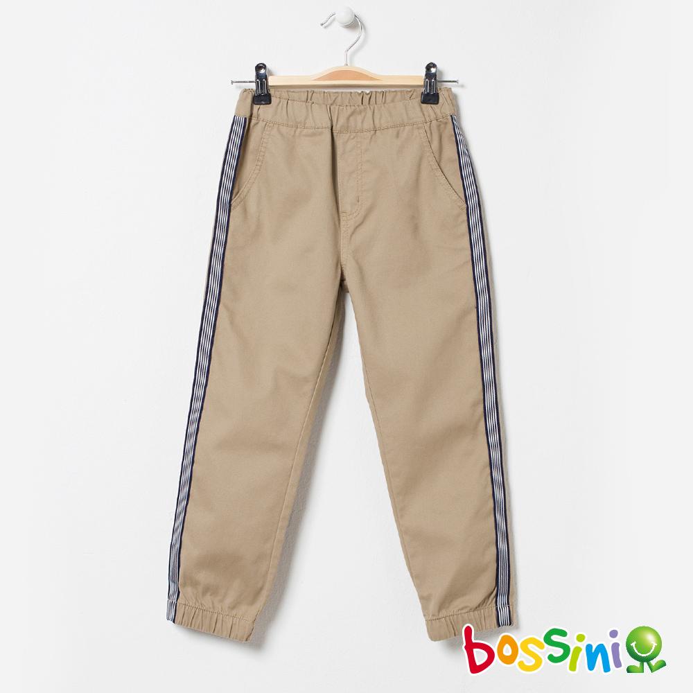 bossini男童-輕鬆束口長褲03淡茶色