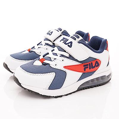 FILA頂級童鞋 氣墊運動鞋款 FO06T-123白藍紅(中大童段)