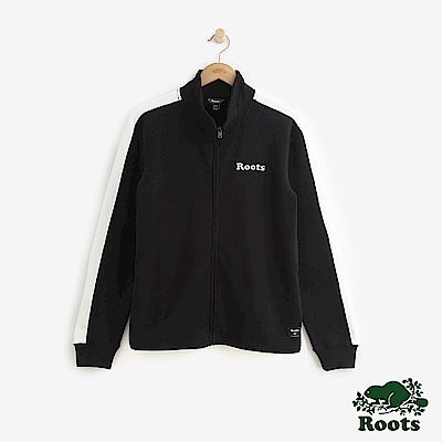 ROOTS男裝  原創毛圈布夾克外套-黑