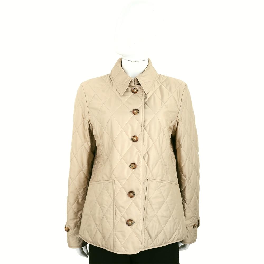 BURBERRY 卡其色菱形車縫溫度調節外套(女款)