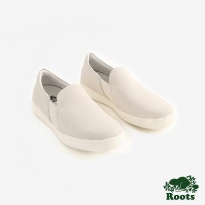 Roots女鞋- 休閒懶人鞋-米白