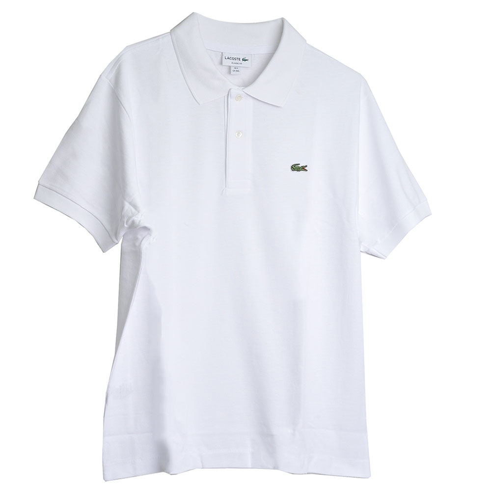 LACOSTE 品牌經典鱷魚LOGO 男POLO衫(白色/5碼)