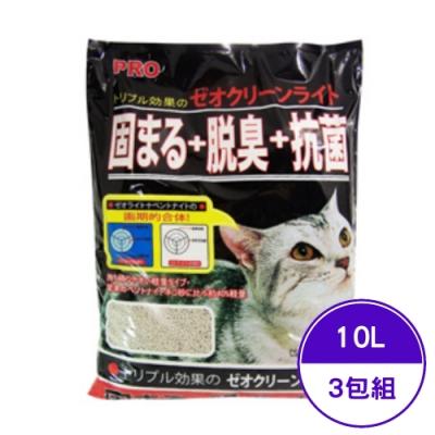 希道小球砂(固まる+脱臭+抗菌) 10L/6kg (3包組)