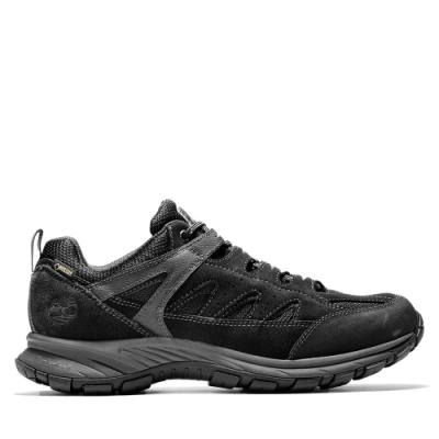 Timberland 男款黑色絨面革防水登山鞋|A1PG2