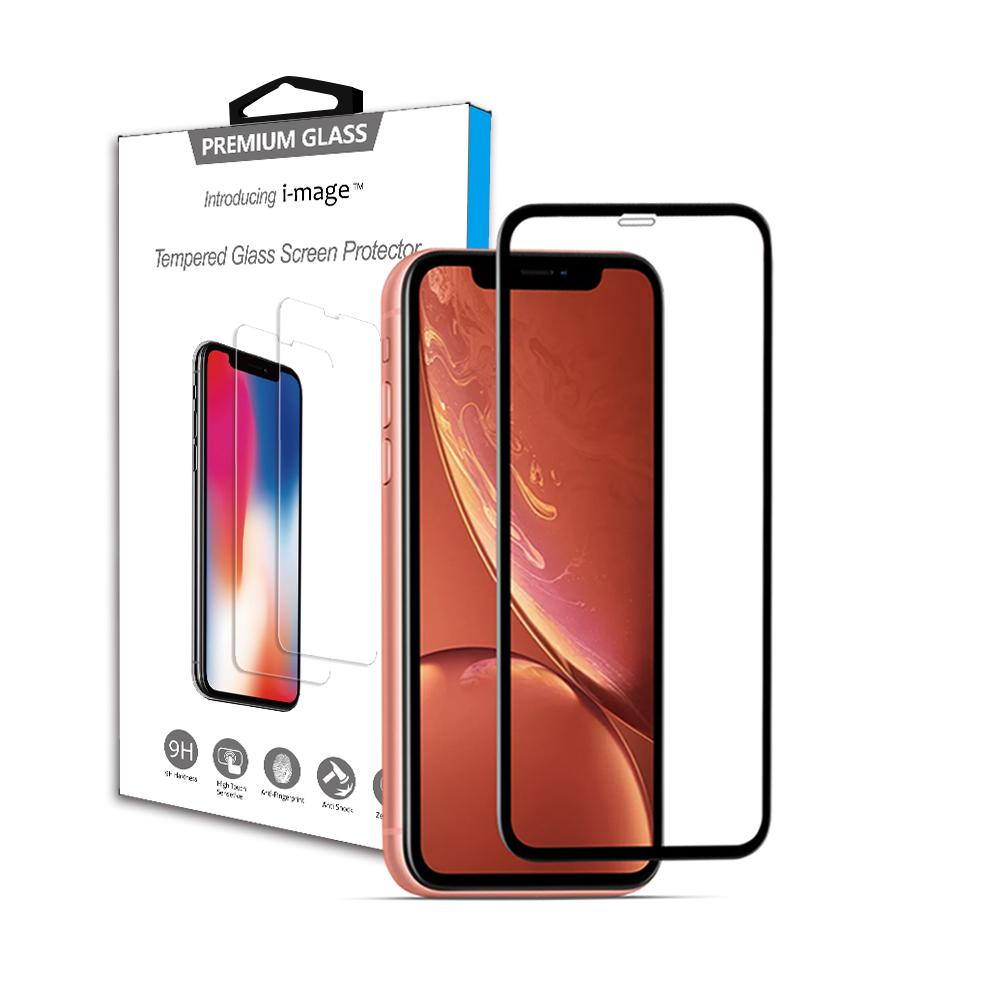 i-mage蘋果  iPhone XR 6.1吋 滿版3D+ 鋼化玻璃保護貼 超耐滑