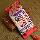 西藏刺繡時輪金剛藏藥香包吊飾(車掛) 林海陽