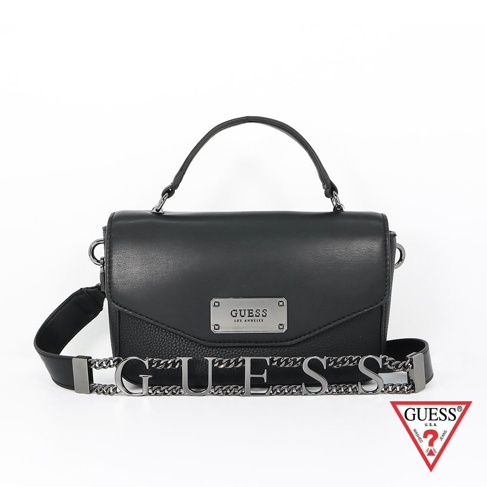 GUESS-女包-質感肩背方包-黑 原價3490