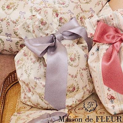 Maison de FLEUR 滿板碎花蝴蝶結造型束口袋