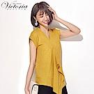 Victoria雙面穿不規則下襬變化短袖T-女-芥黃