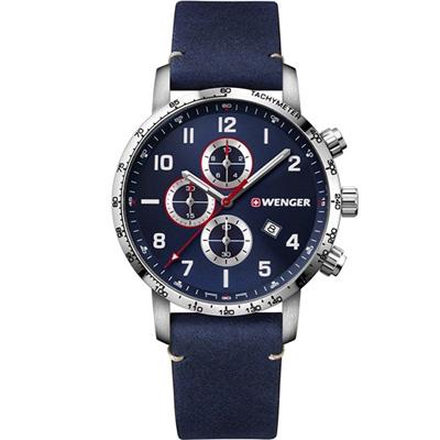 WENGER Attitude Chrono 計時時尚腕錶(01.1543.109)藍