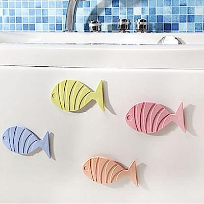 挪威森林 日本熱銷吸盤式浴室防滑墊(5入)-悠游小魚