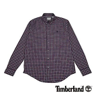Timberland 男款紅白格紋長袖Indian River 襯衫|A1NK8