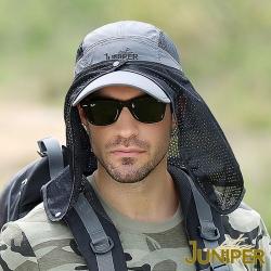 JUNIPER 抗UV登山防曬披風透氣遮陽運動帽