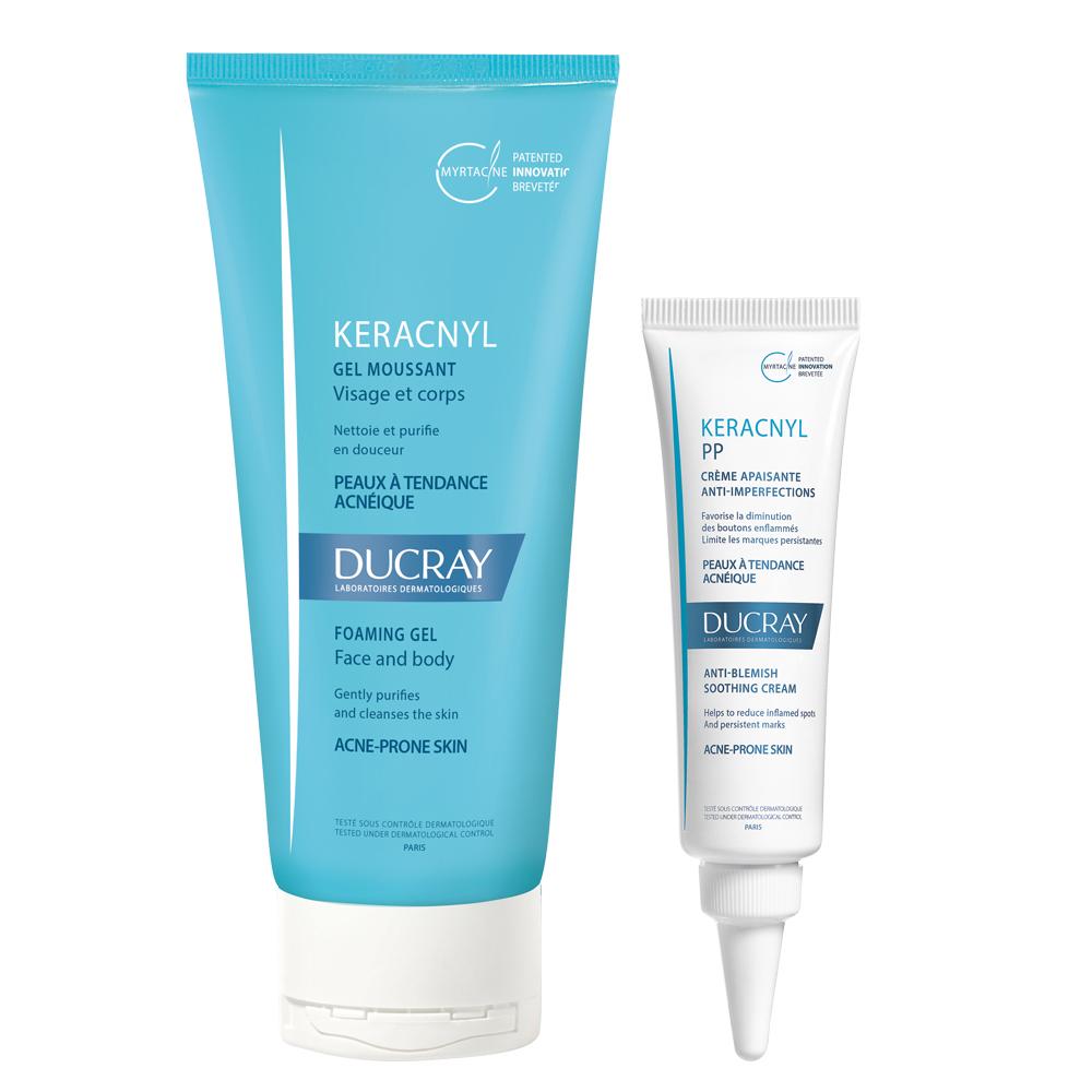 DUCRAY護蕾 淨化毛孔潔膚保濕組