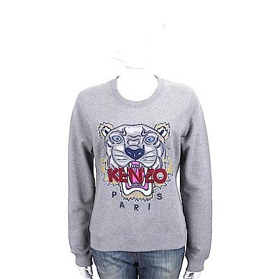 KENZO Embroidered Tiger 刺繡虎頭灰色棉質運動衫