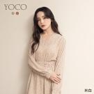 東京著衣-YOCO 法式復古V領碎花縮腰雪紡洋裝(共二色)