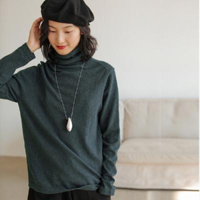 針織衫-純棉彩紗高領內搭5色-設計所在