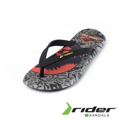Rider BLOCKBUSTER系列人字夾腳拖鞋(男款)-印花灰