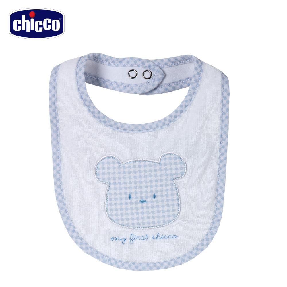 chicco-藍格熊-毛巾布圍兜