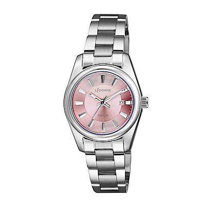 LICORNE 力抗錶 都會款 簡約風格手錶 粉×銀/29mm