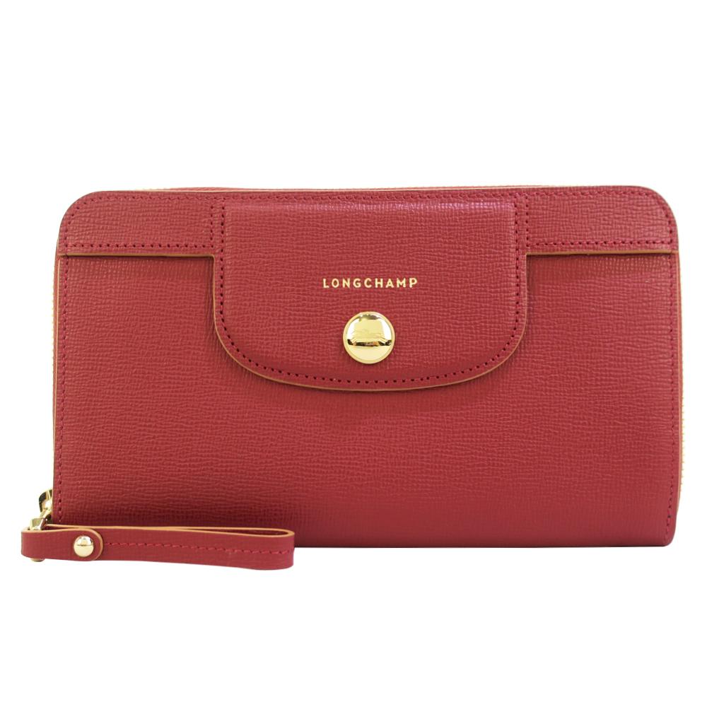 Longchamp Heritage 拉鍊長夾-紅色LONGCHAMP