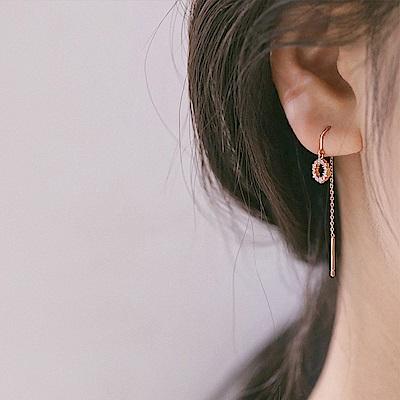 梨花HaNA 韓國925銀金秘書為何那樣美麗質感圈飾耳環