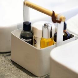 【收納職人】北歐簡約時尚鐵製木棍手提收納盒_白色