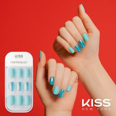 KISS New York-華沙款Press&Go頂級光療指甲貼片(第凡內早餐 KPNA04K)