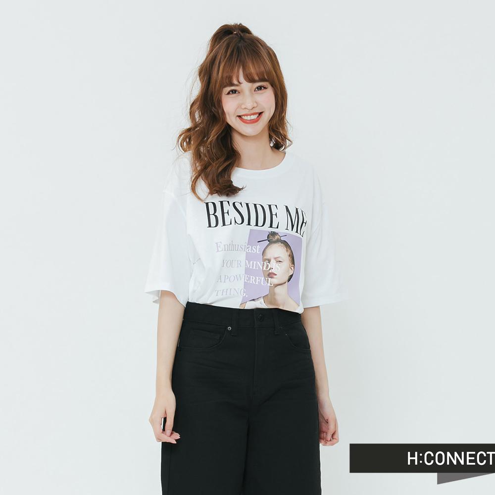 H:CONNECT 韓國品牌 女裝-個人主義T-shirtt-白
