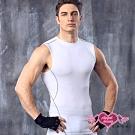 運動背心 活力型男 彈性貼身運動上衣(白M~XL)AngelHoney天使霓裳