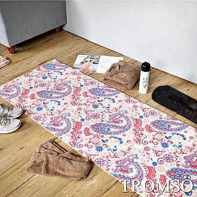 TROMSO 百花圖騰抗菌6mm多功能瑜珈墊-A樂活粉花